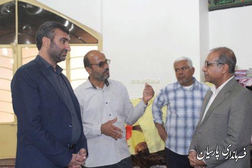 بازدید دکتر میرزاد فرماندار پارسیان  به اتفاق مهندس کناری مدیر کل دفتر امنیتی استانداری هرمزگان از موکب های شهرستان