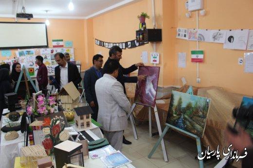 افتتاح نمایشگاه دستاوردهای دانش آموزان هنرستان حضرت صدیقه طاهره (س) توسط دکتر میرزاد فرماندار پارسیان
